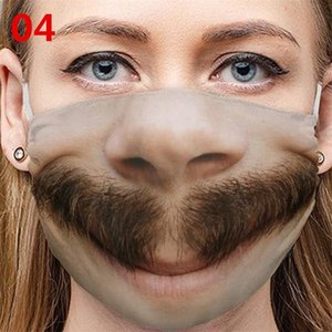 Toz geçirmez Erkek Kadın Yüz Maskesi Yüz Komik Baskı Kullanımlık Katlanabilir Moda Ağız Maskeleri Kişilik Sıcak Satış Yeni 4 mg J2