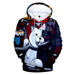 Monokuma Anime 3D Hoodie das mulheres dos homens novos Casual Fashion Harajuku Sweatshrit 3D Imprimir Monokuma hoodies Streetwear