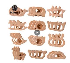 1 ADET Bebek Diş Kaşıyıcı Hayvan Ahşap Yüzük Unicorn Kamera Kirpi Gıda Sınıfı Ahşap Diş Kaşıyıcı Hemşirelik Kolye Diş Çıkarma Oyuncaklar
