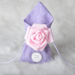Free shipping 50pcs aestheticism Line rose drawstring Wedding Birthday Guests Event party salute small goods Candy bag Favor Box