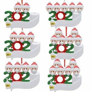 2020 Noël Happy New Family Noël pendentif visage masque bonhomme de neige portant masque enfants décoration de noël décoration de survivant cadeau