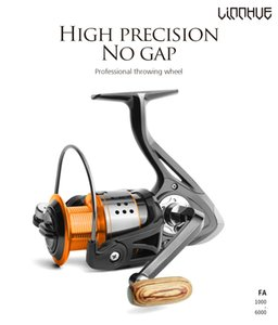 Angelrolle FA1000-6000 KEINE GAP METAL SPOOL MAX Drag 8kg Pike Spinning Rolle High Speed 5.2: 1 Rolle Fanggetriebe PESCA