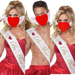 2021 Jour de la Saint-Valentin Amour Mask Designer Romantique Face Masques Space Coton Coton Coeur Masque Couple Adulte Couple Dustoire Réglable Bouche Masque H12002