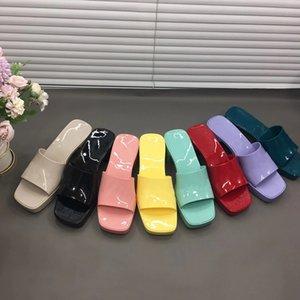 Sandalo di gomma da donna Sandalo Tacchi alti Tacchi alti Sandali Candy Colors Chunky Heel Retro Scarpe Estate Sandali sexy Dimensione 35-41 con scatola 267