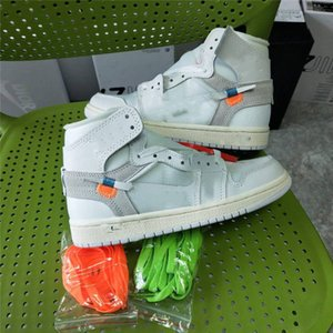 Nike Air Jordan 1 OFF White AJ1 OW 2020 New Chicago Universität, Blau, Weiß 1 One Herren-Basketball-Schuhe für Männer Sport der Frauen Air off Designer Sneakers Turnschuhe Größe