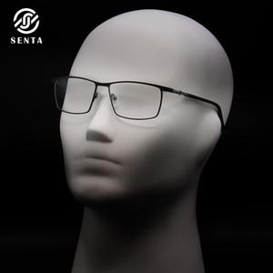Metal kare dikdörtgen gözlük çerçeveleri adam Moda İş Stil özelleştirilebilir optik reçete myopia hipermetrop gözlük