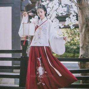Capodanno Festival tradizionale cinese Outfit Abbigliamento donna Hanfu Donne prestazioni costume antico Folk Dance Dress Fata