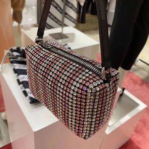 Luxus-Modemarke Designer Diamant Handtasche Grand King glänzende Diamant-Abendessen Tasche High-End-Zweifarben-diagonal Tasche Umhängetasche