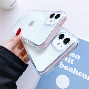 100Pcs lot Wholesale Candy Phone Case For iPhone 12Mini 11 Pro Max X XR XS Max 6S 7 8 Plus Shockproof Clear TPU Back Cover