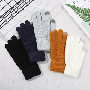 Women Men Winter Touch Screen Gloves Warm Knit Touchscreen Texting Elastic Cuff Thermal Gloves Women Men Outdoor Sports Gloves