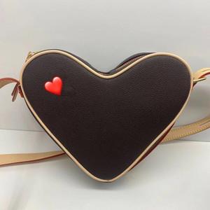 Carta Saco Coração Senhoras e Bolsa De Ombro Messenger Bag Clássico M45419 Coração-em forma de Coração de Couro de Canvas 3 Cores Embossed Tamanho 22 Bolsa