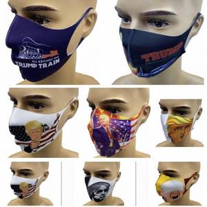 Новая маска для лица American M Взрослого Anti-Dust Защитного Trump Ndgg EBal # Trump Маска многоразовой Маски моющегося HH9-3067 Выборы Рот Хлопок Wfrv