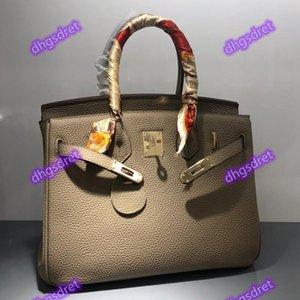 2020 جديد تنقش جلد الحبوب الكاملة بيركين حقيبة جلدية حقيبة الزفاف السيدات واحدة في الكتف حقيبة عبر كتف / حقيبة كبيرة.