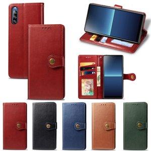Flip Telefone Celular para Sony Xperia L4 Estilo de negócios com fivela magnética cinta de mão (modelo: Sonyl4)