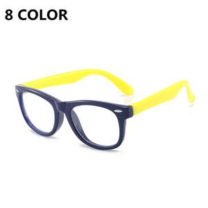 الأطفال المضادة للأشعة الأزرق نظارات لينة سيليكون إطار الرؤية الرعاية مرنة المحمولة النظارات البصرية نظارات الكمبيوتر النظارات