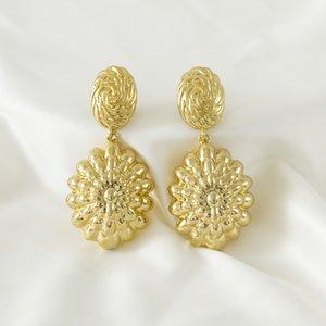 Sunnice Copper Gold Bijoux Chaud Design pour femmes africaines cadeau de mariage Boucles d'oreilles grand si grande taille Accessoires