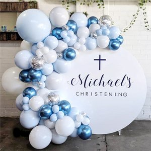 104pcs Blue Pink Silver Metal Balloon Garland Arch Baloon Wedding Event Party Balon Baby Shower Birthday Party Decor Kids Adult 1027