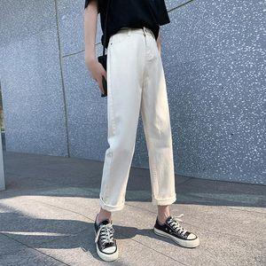GUUZYUVIZ APRIOCT Boyfriend jeans para las mujeres Casual suelto Play Tamaño Jeans Mujer Alta Cintura Denim Pantalones Damas Black Blue