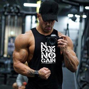 Ginásio guerreiros Cotton aptidão Stringer Regatas Men camisa sem mangas Regatas Roupa Musculação Undershirt Workout Vest