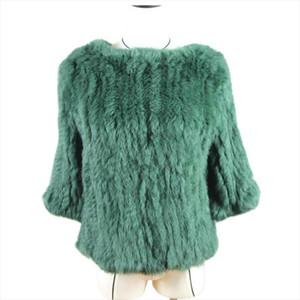 Harppihop * Новые женщины горячих продаж реального мех кролика трикотажных пальто куртка Жилеты обручи халат общих 11 цветов черные бежевых