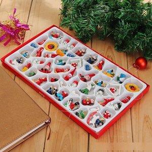Adet Geleneksel Ahşap Noel ağacı Süsleri Ev 48 Asma Oyuncak Seti Güzel Narin Hotel Restaurant Atmosfer Santa Clau C4p5
