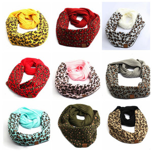 Leopard Animal Print Wrap Scarf Unisex Women Men INS Soft Knitted women men Winter Collar Neckerchief LJJK2496