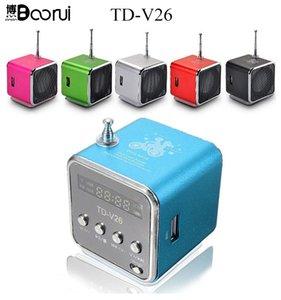 DVD 노트북 휴대폰 MP3 플레이어 201109에 대한 TD-V26 미니 스피커 휴대용 마이크로 SD TF 카드 USB 디스크 musicAmplifier 스테레오 스피커