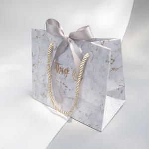 Yaratıcı yüksek kaliteli gri mermer hediye çantası Noel için / düğün / bebek duş / doğum günü partisi hediye paketleme kutusu iyilik