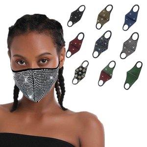 Blitz-Diamant-Strass-Sterne-Gesichtsmaske Fashionnachtclub-Party Personalisierte Customization wiederverwendbare Maske staubdichte ZZC1277