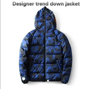 20FW men's jacket winter new high-quality camouflage casual thick cotton clothing fashion down trend letter printing men's jacket