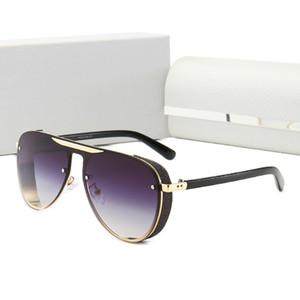 2021 Edição limitada Moda Designers Mulheres Homens Metal Vintage Luxurys Sunglasses Moda Marca Estilo Quadrado Sem Frameless UV 400 Lente Original