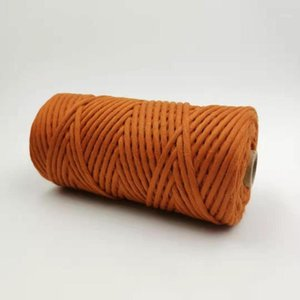 ROPEMATE SOFT COTTON CORD macrame decor project handmade 4MM 100Meters - 1 SINGLE STRAND - GOLDEN BROWN COLOR1