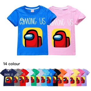 14-color children's T-shirts, children's clothing, cotton, summer casual tops, short-sleeved T-shirts for boys and girls 743 Baby Kids Tops