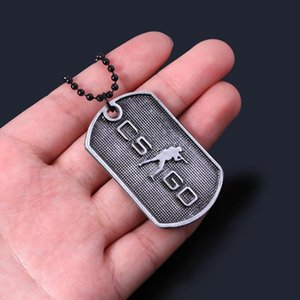 RJ Hot Sale Game CS GO Necklace CSGO Counter Strike Dog Tag Pendants Necklaces Gun Knife Wing Collier Men Car Key Holder Jewelry