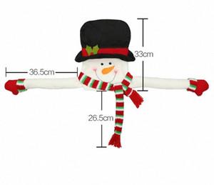 Stehen Frohe Weihnachten Weihnachtsmann Snow Weihnachten Elk-hängende für Kinder-Party-Dekor-Dekorationen Weihnachten Saison Heim lpDn #