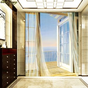 beibehang Custom Wallpaper 3D Expand Space Balcony Scenery Modern Creative Art Wall Mural Entrance Corridor Background Photo