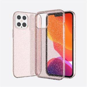 Bling Bling Funkeln Klar Telefon-Kasten für iphone 12 Pro Max Art und Weise Neue Anti-fallen Schutz rückseitige Abdeckung für iphone 11 Xs Max Plus