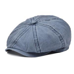 VOBOOM coton Newsboy Cap Mens Summer Flat Cap femmes protection solaire Boina Gatsby Hat 160
