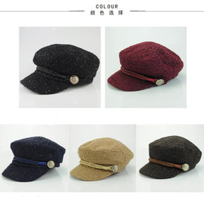 2020 Warm outdoor berets in autumn and winter fashion trend Vintage British hat free shipping
