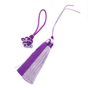 1set Pack Polyester Borla Fringe Trim con 12 cm Tassels de seda de algodón para la decoración de bodas Hecho a mano DIY Cortinas de costura Accesorios H WMTFKU