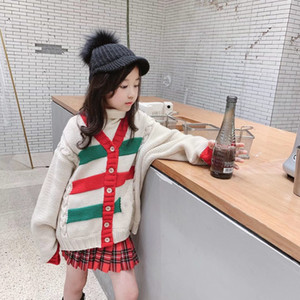 2020 Winter Toddler Baby Girls Cardigan Sweaters Fashion Boys Girls Sweater Hollow Out Knitted Chidlren Outwear Coat