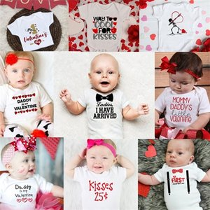 Ladies I Have Arrived Infant Newborn Baby Boys Clothes Short Sleeve Casual Romper Jumpsuit Outfit Baby Clothing Valentine Onesie C1018