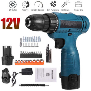 Rechargeable Lithium Battery Cordless Electric Drill Bit 12V Electric Screwdriver Torque Screw Gun Power Tools