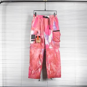 2021 Deportes Hip Hop Designer Pantalones Hombres Pantalones Viajes Camuflaje Corbata Teñido Tinte Alta Calidad Pierna desmontable Multi Pocket Ykk Cremallera Pantalones
