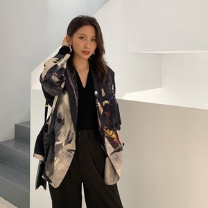 Tasarımcı Kadınlar Blazers Ve Ceketler Patchwork Artı boyutu Blazer Gevşek High Street Moda Sonbahar İlkbahar Blazer 201.106 yazdır
