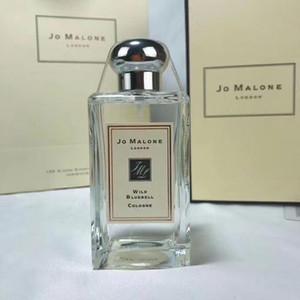 Promosyon Yüksek kaliteli Jo Malone London Parfüm 100ML İngilizce Armut Deniz Tuzu Berry Vahşi Bluebell Red Rose Köln parfüm kokuları Unisex