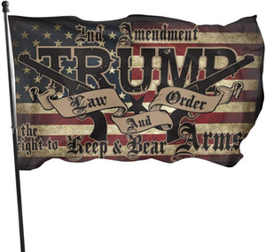 Günstiger Preis Trump Law Order 2nd Änderungsantrag Guns 3x5 150x90cm Flaggen Banner, digitale gedruckte Outdoor Hanging Printing, Drop Shipping