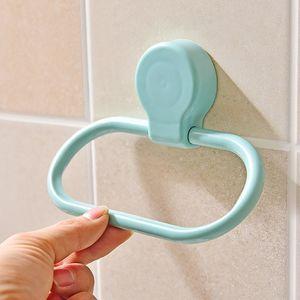 환형 Viscose 타월 Pylons 가정용 가정용 궤적 없음 손톱 무료 방수 타월 랙 욕실 용품 4 색 옵션 새로운 2 7xR J2