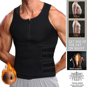 Men Waist Trainer Vest Neoprene Sauna Suit for Men Waist Trainer Vest Zipper Body Shaper with Adjustable Tank Top Faja Shapewear