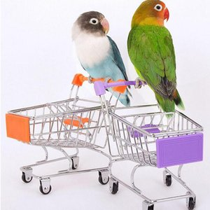 Creative Mini детей Handcart Simulation Bird Parrot Hamster Toy Small Supermarket корзина играют в дом игрушки GWF4459